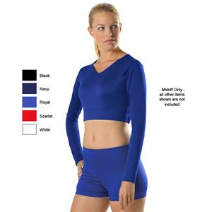 Alleson Cheerleader Body Basics V-Neck Midriff Top