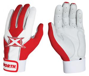 Worth Toxic Sheep Leather Batting Gloves Scarlet