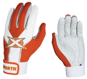 Worth Toxic Sheep Leather Batting Gloves Orange