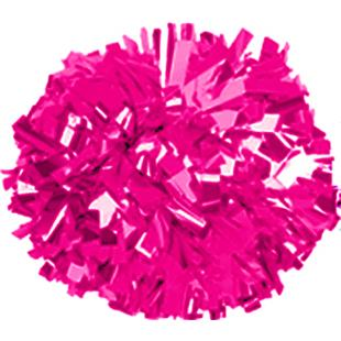 Getz Adult Cheerleaders Solid Metallic Poms