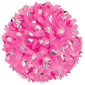 Getz Cheerleaders Pink Flash Plastic Metallic Poms