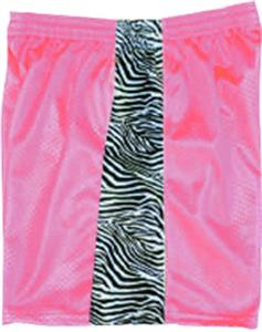 Fit 2 Win Mesh KIKI Pink w/Zebra Athletic Shorts