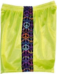 Fit2Win Mesh KIKI Peace Sign Athletic Shorts