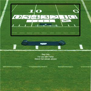 Fisher Economy 4' Football Stencil Set Carry Bags
