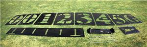 Fisher 6' Deluxe Football Field Stencil Sets