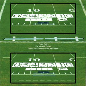 Fisher Football Field Stencil Set Poles (Set of 4)