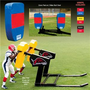 Fisher 2 Man Football Bull Sleds w/ Zone Pads