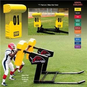 "Fisher 2 Man Football Bull Sleds w/ ""T"" Pads"