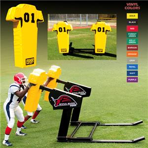 Fisher 2 Man Football Bull Sleds w/ Man Pads