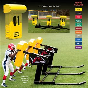 "Fisher 3 Man Football Bull Sleds w/ ""T"" Pads"