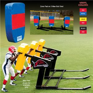 Fisher 3 Man Football Bull Sleds w/ Zone Pads