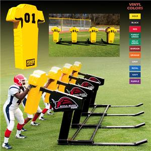 Fisher 4 Man Football Bull Sleds w/ Man Pads