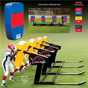 Fisher 4 Man Football Bull Sleds w/ Zone Pads