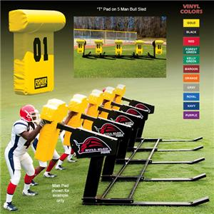 Fisher 5 Man Football Bull Sleds w/ &quot;T&quot; Pads