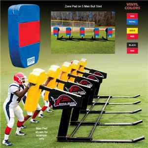 Fisher 5 Man Football Bull Sleds w/ Zone Pads
