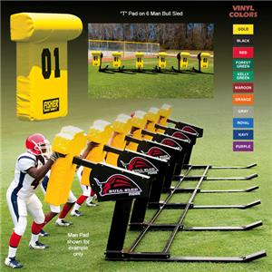 "Fisher 6 Man Football Bull Sleds w/ ""T"" Pads"