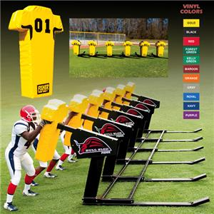 Fisher 6 Man Football Bull Sleds w/ Man Pads