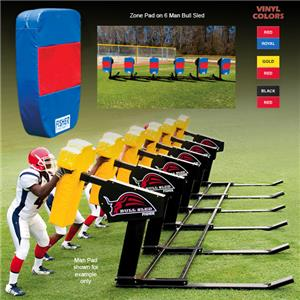 Fisher 6 Man Football Bull Sleds w/ Zone Pads