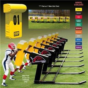 "Fisher 7 Man Football Bull Sleds w/ ""T"" Pads"