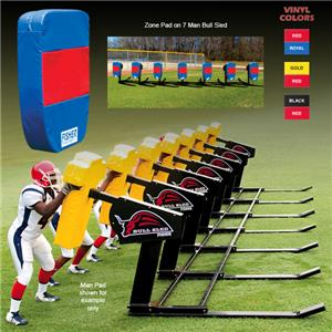 Fisher 7 Man Football Bull Sleds w/ Zone Pads