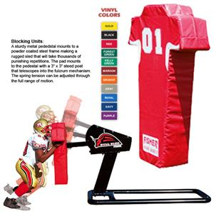 Fisher 1 Man Football Bull Sleds w/ Man Pads