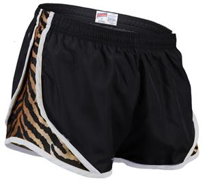 Soffe Jr. Tiger Print 3 1/4&quot; Shorty Shorts
