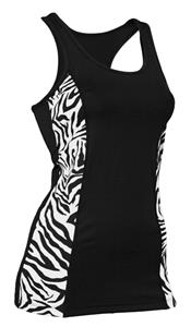 Soffe JR. Zebra Print Prima Tank Top Tight Fit