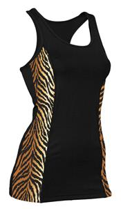 Soffe JR. Tiger Print Prima Tank Top Tight Fit