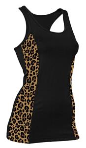 Soffe JR. Leopard Print Prima Tank Top Tight Fit