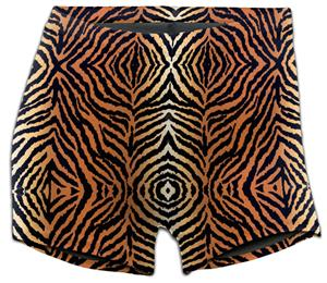 Soffe Tiger Print Compression 3&quot; Shorts 093VPR