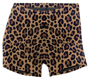 Soffe Leopard Print Compression 3&quot; Shorts 093VPR