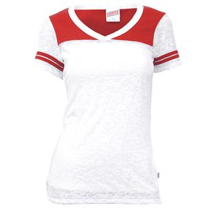 Soffe V-Neck Burn Out Football T-Shirt 10 Colors