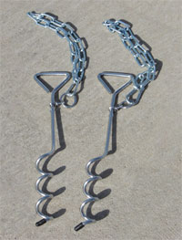 FT4027 - Soccer Goal Ground Anchors PAIR