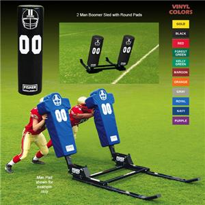 Fisher 2 Man Football Boomer Sleds w/ Round Pads