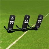 Fisher 3 Man Football Boomer Sleds w/ Round Pads