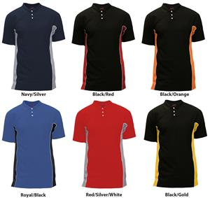 Soffe Mens 3 Button Texture Polo Shirt 976A
