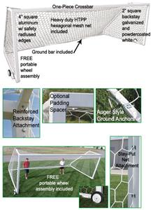 Golden Goal 44 Elite-PB Portable Soccer Goal PAIR