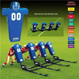 Fisher 4 Man Football Boomer Sleds w/ Man Pads