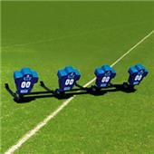Fisher 4 Man Football Boomer Sleds w/ Low Boy Pads