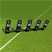 Fisher 5 Man Football Boomer Sleds w/ Round Pads