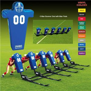 Fisher 6 Man Football Boomer Sleds w/ Man Pads