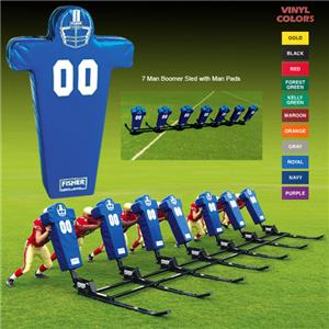 Fisher 7 Man Football Boomer Sleds w/ Man Pads