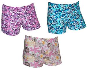 Spandex 3&quot; Sports Shorts - Floral Print