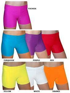 Spandex 4&quot; Sports Shorts - Bright Solids