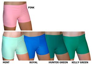 Spandex 4&quot; Sports Shorts - Color Solids