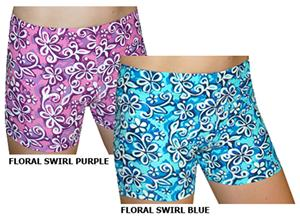 Spandex 4&quot; Sports Shorts - Floral Print