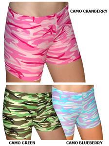 "Plangea Spandex 2.5"" Sports Shorts - Camo Print"
