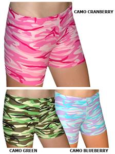 Spandex 2.5&quot; Sports Shorts - Camo Print