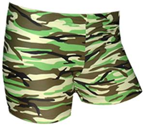 Spandex 3&quot; Sports Shorts - Camo Print