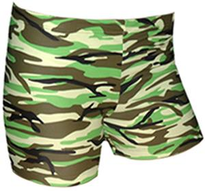 Spandex 4&quot; Sports Shorts - Camo Print